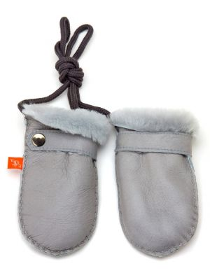 Love Winter Shearling Mittens - Dove Grey