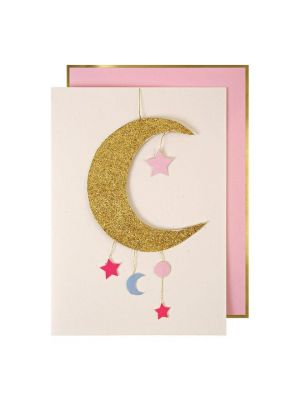 Stitched Baby Mobile Card - Pink