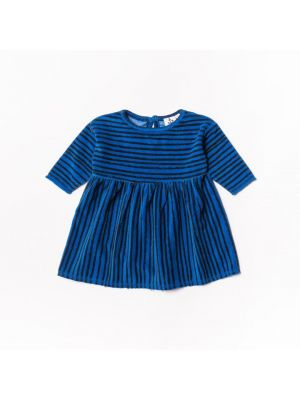 Terry Baby Dress - Blue