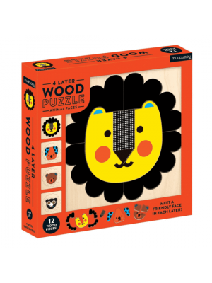 Animal Faces Wood Puzzle