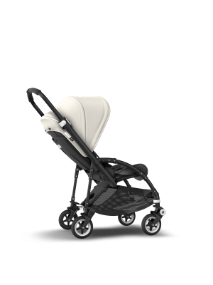 Bee 5 Stroller With Black Frame, Grey Seat and White Canopy