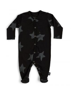 Black Faded Star Footed Overall