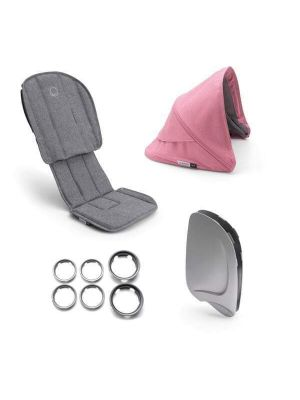 Bugaboo Ant Style Set Complete Grey Melange / Pink Canopy