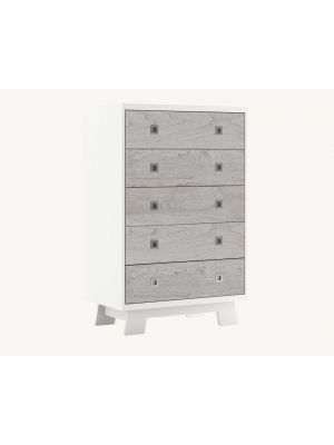 Pomelo 5 Drawer Dresser - Rustic Grey