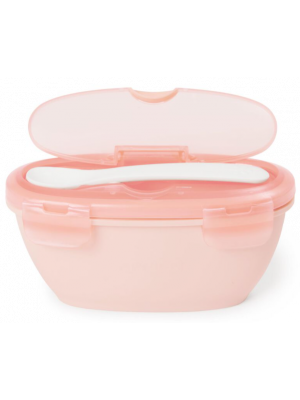 Easy Serve Travel Bowl and Spoon Coral