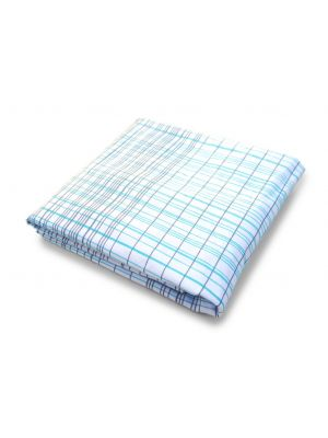 Hashtag Fitted Crib Sheet - Blue