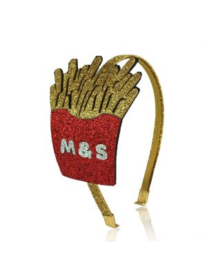 Fries Junk Food Headband - Glitter