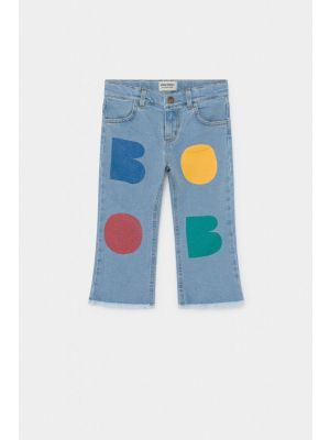 Multicolor Flared Denim Pants
