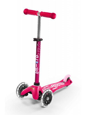 Micro Mini LED Scooter - Pink