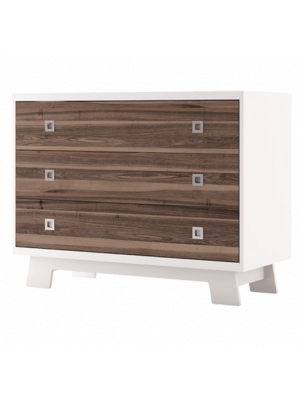 Pomelo 3 Drawer Dresser - Walnut