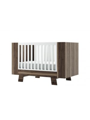 Pomelo Convertible Crib 3 in 1 - Walnut All Sided