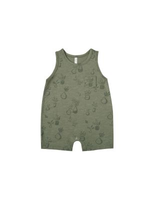 Potted Plants Sleeveless Onepiece
