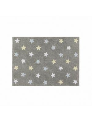 Tricolor Stars Rug