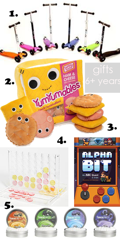 the best gifts for children six years and older