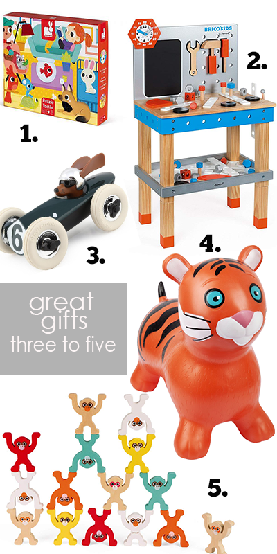 The best gifts for three year olds, four year olds and five year olds